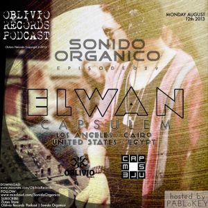 Sonido Organico Episode 29 hosted by PABLoKEY ft. Elwan (CapsuleM) LA/Cairo 8.12.13