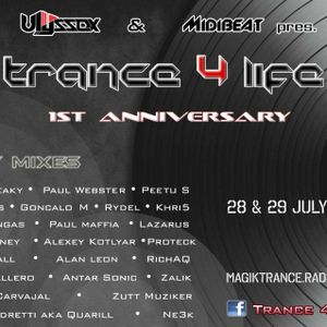 """Rydel presents """"Trance4Life 1-year Anniversary Broadcast"""" (July2012)"""