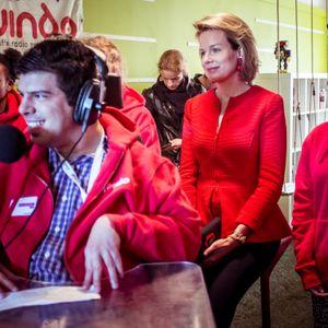 Radio Respect - bezoek koningin Mathilde (12 april 2016)