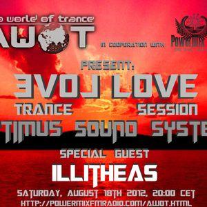 S.U.G - Evol lovE Trance Session for AWOT 18.08.2012