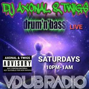 DJ AXONAL & TWIGS LIVE DNB SESSIONS #76 ON VDUBRADIO TEAM AXONAL 03/04/2021