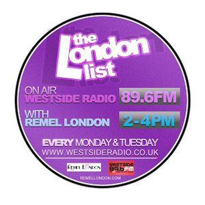 The London List Radio Show Tuesday 8th January 2013