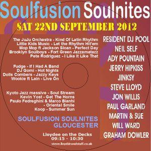Soulfusion Soulnites, Glos: lloydees DJ Set Sept 2012