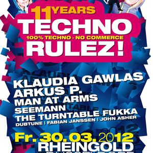 Dubtune - TECHNO RULEZ! @ Rheingold (30.03.2012)