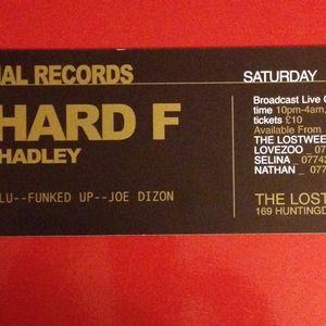 EXCLUSIVE: Richard F, live @ Lovezoo, Nottingham 31.01.2004 Part 1 of 2