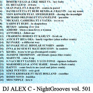 DJ ALEX C - Nightgrooves 501 moombahton pop