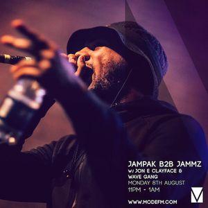 08/08/2016 - Jampak b2b Jammz w/ Jon E ClayFace & Wave Gang - Mode FM (Podcast)