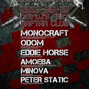 Monocraft live@ Kaptár Club,MNML DIZKO 2010.08.19.