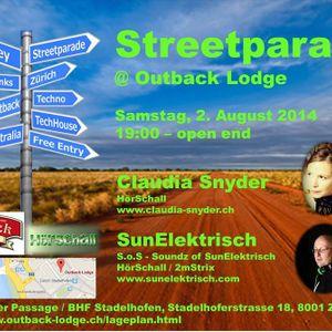 SunElektrisch- Streetparade @Outback