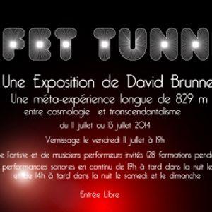 """Intervention sonore pour """"Effet Tunnel"""" l'expo de David Brunner le 11.07.2014 - Rimont (09)"""