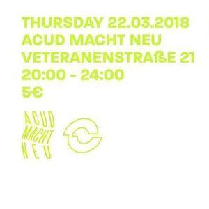 Intro @ Acud Macht Neu on 22.03.18 Berlin