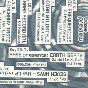 "Wolle X.D.P. ""EARTH BEATS"" --- b --- 20.7.96 BASE II DD"