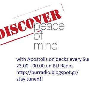 Apostolis - Peace of Mind on BU Radio, 13/10/2013