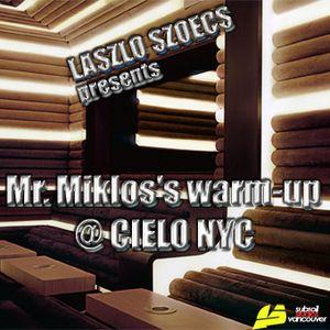 Laszlo Szoecs presents Mr  Miklos 's warm-up at CIELO NYC Part2