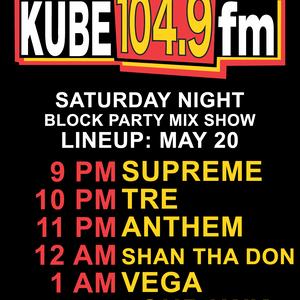Dj Tre 5/20 Kube 104.9 FM Saturday Night Block Party Mix Pt.1