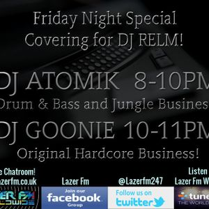 DJ Atomik 2hr Friday Drum & Bass Lazer FM Show 15/07/16