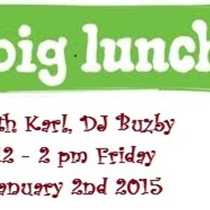 The Big Lunch with Karl DJ Buzby - Colne Radio 12 midday to 2pm Friday 2nd January 2015