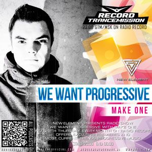 WE WANT PROGRESIVE # 016 with Make One [New Element]