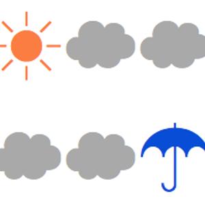 晴曇曇曇曇雨雨