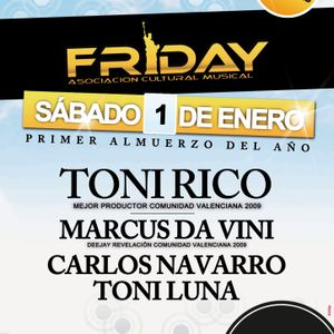 Marcus Da Vini live at 1º ANIVERSARIO FRIDAYat NAMALA (01.01.2011 to 9am)