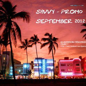 SAVVY - PROMO SEPTEMBER 2012