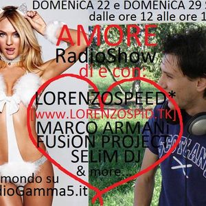 LORENZOSPEED present AMORE Radio Show 29 09 2013 with FUSiON PROJECT and SiMON part 3