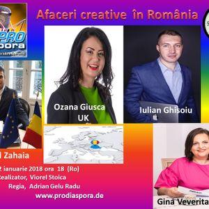 Afaceri Creative în România, emisiunea 41 din data de 12.01.2018