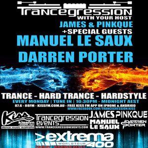 Pinkque on Trancegression 376 Kiss FM Dance Music Australia 23/3/15