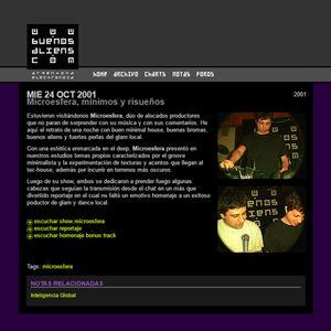 2001 Microesfera - Minimos y Risueños (Entrevista)