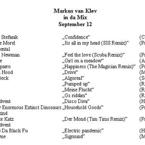 Markus van Klev in da Mix September 12