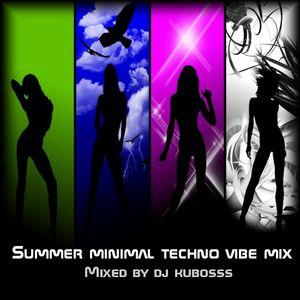Summer minimal techno vibe mix