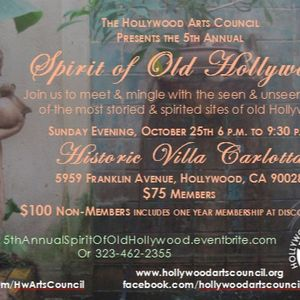Hollywood Arts Council ( @HwartsCouncil ) Spirit of old Hollywood October 25th