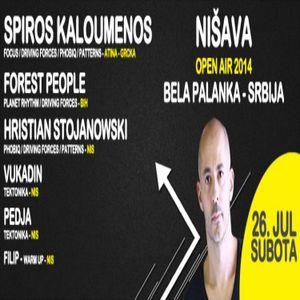 Hristian Stojanowski - Live @ Nisava Open Air 2014 (with Spiros Kaloumenos)