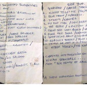 Songs for Swinging Subversives (Andrew Weatherall mixtape 1982)