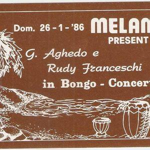 Melamara Bongoconcert 26\01\1986 By Rudy Franceschi & George Aghedo percussion Lato A