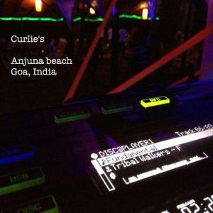 Dj Skylander - Live at Curlie's Club, Anjuna, Goa, India (27/dec/2012)