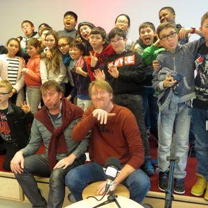 Radio Qui Qui - L'école 5 d'Ixelles rencontre Thomas Lavachery et Vincent Cuvellier - Biblio XL