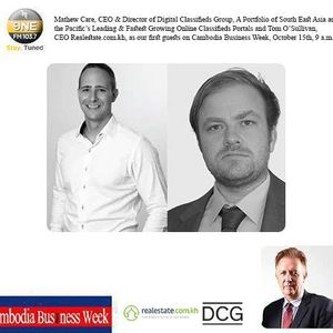 Tom O'Sullivan and Mathew Care from Realestate.com.kh | Cambodia Business Week | 15 October, 2016