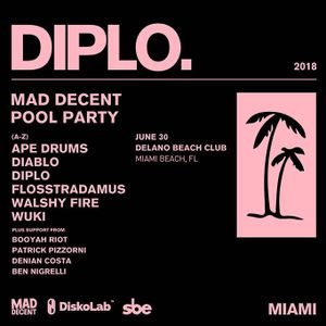 Ape Drums & 4B & Wuki @ Mad Decent Pool Party, Delano Beach Club Miami, United States 2018-06-30