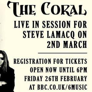 The Coral en directo. Con Steve Lamacq de la BBC 6 Music (02.03.2016).