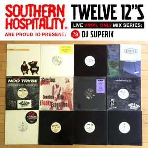 Twelve 12's Live Vinyl Mix: 73 - DJ Superix - Summer West coast rap special!