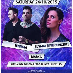 Tenishia – Live @ ART OF TRANCE @ Madame Butterfly, Ferrara (24-10-2015)