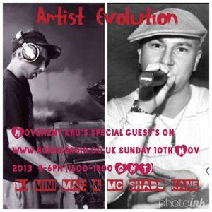 Artist Evolution on Movement show Live on Londons Bonus Radio 19/01/2014