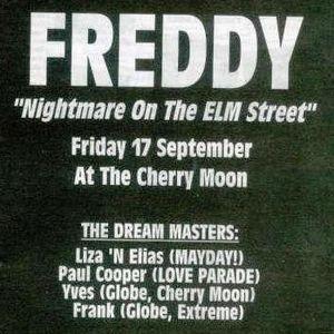 """Resident DJ Team at """"Freddy Nightmare On Elm Street"""" @ Cherry Moon (Lokeren) - 17 September 1993"""