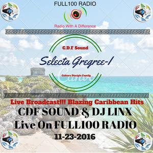 Selecta Gregree-I Alongside DJ Linx - Live on FULL100Radio - 11-23-16