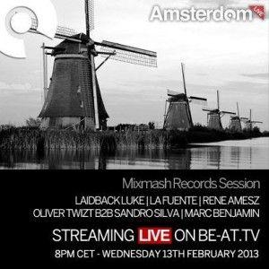 Laidback Luke - Live @ Amsterdam Studio, Mixmash (13.02.2013)