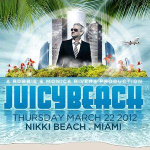 Antoine Clamaran - Live @ Juicy Beach, Miami 2012