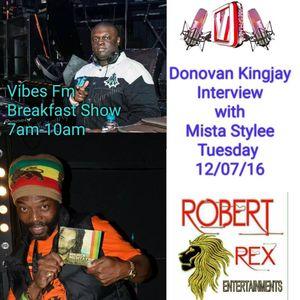 NEW REGGAE TUESDAYS ON WWW.VIBESFM.NET- 12-7-16