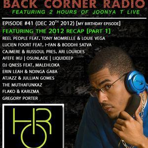 BACK CORNER RADIO: Episode #41 [My Birthday Episode] 2012 Recap Part. 1 (Dec 20th 2012)