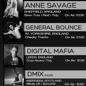Hard House Showcase on ShmuFM - Anne Savage, Dmix, Digital Mafia & General Bounce!